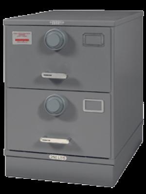 7110-01-029-5767 | Multi-Lock Class 6, 2 Drawer File Cabinet, Gray