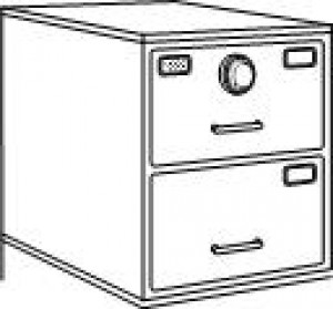7110-01-015-4638 | Class 6, 2 Drawer File Cabinet, Black