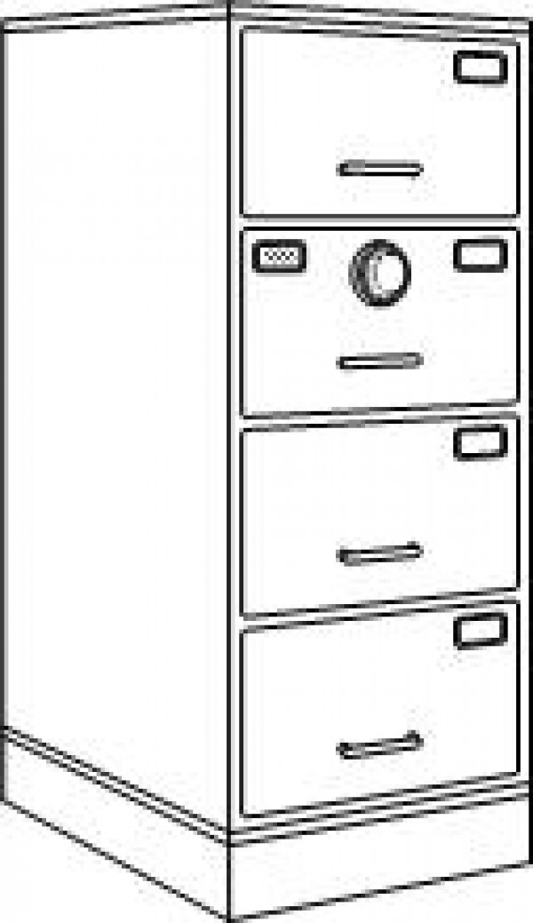 gsa approved security container four drawer file cabinet safe with single x09 lock in black