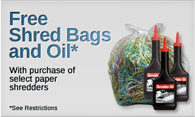 Free Shredder Bags and Oil with Purchase